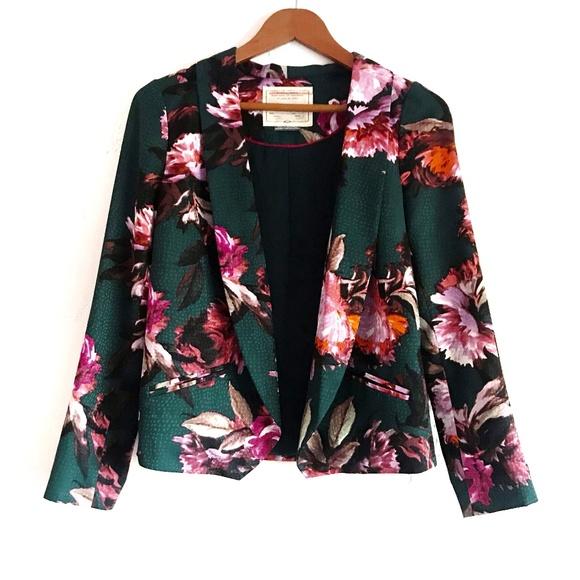 Anthropologie Jackets & Blazers - Anthropologie Cartonnier Rihan Floral Open Blazer